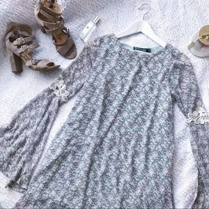 For Love And Lemons Floral Bell Sleeve Dress S✨